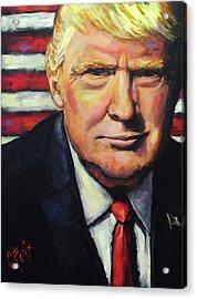 President Trump Acrylic Print by Carole Foret
