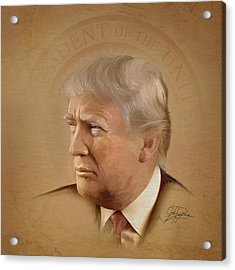 President Trump Acrylic Print