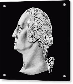 President Washington Bust  Acrylic Print by War Is Hell Store