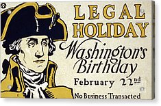 Presidents Day Vintage Poster Acrylic Print