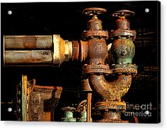 Pressure Relief Valves Acrylic Print by Olivier Le Queinec