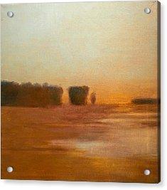 Preston After Spring Rain Creek Flood Acrylic Print