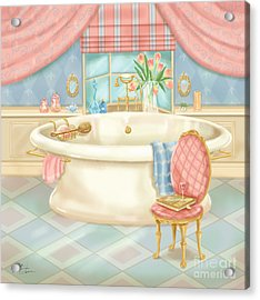 Pretty Bathrooms II Acrylic Print