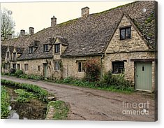 Pretty Cottages All In A Row Acrylic Print by Jasna Buncic