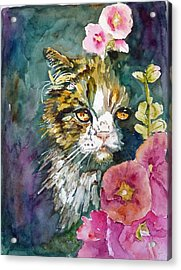 Acrylic Print featuring the painting Pretty Disguise by P Maure Bausch