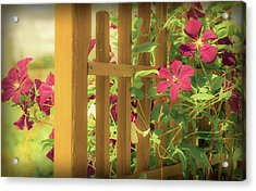 Pretty Flower Garden Acrylic Print