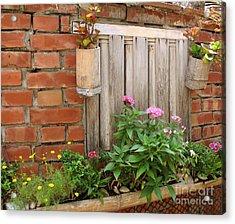 Pretty Garden Wall Acrylic Print by Yali Shi
