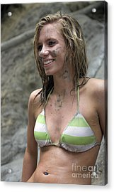 Pretty Girl In Mud Acrylic Print by Christopher Purcell
