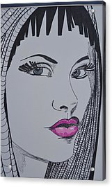 Pretty In Pink Lips Acrylic Print