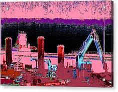 Pretty In Pink Acrylic Print by Rachel Christine Nowicki