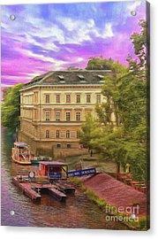 Pretty On The River - Prague Acrylic Print