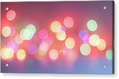 Pretty Pastels Abstract Acrylic Print by Terry DeLuco
