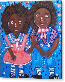 Pretty Peter And Penny Acrylic Print by Clara Spencer