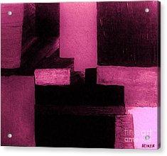 Pretty Pink Abstract Acrylic Print by Marsha Heiken