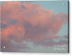 Acrylic Print featuring the photograph Pretty Pink Clouds by Ana V Ramirez