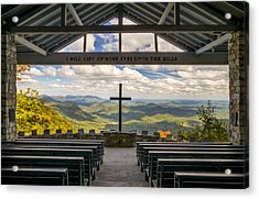 Pretty Place Chapel - Blue Ridge Mountains Sc Acrylic Print by Dave Allen