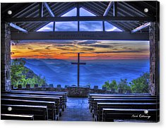 Pretty Place Chapel Sunrise 777  Acrylic Print by Reid Callaway