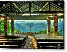Pretty Place Chapel The Son Has Risen Blue Ridge Mountain Art Acrylic Print