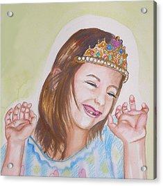 Pretty Princess Acrylic Print by Anne Cameron Cutri