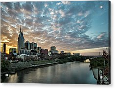 Pretty Sky And Nashville Skyline Acrylic Print