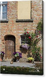 Pretty Terrace Beside The Groenerei Canal In Bruges Belgium Acrylic Print