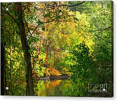 Prettyboy Of Autumn Acrylic Print