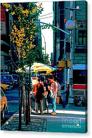 Hot Dog Stand Nyc Late Afternoon Ik Acrylic Print