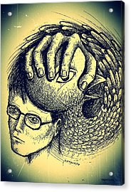 Prevent The Free Expression Acrylic Print by Paulo Zerbato