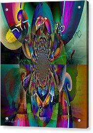 Acrylic Print featuring the photograph Pri Eitz Hadar Abstract by Miriam Shaw