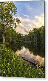 Price Lake Sunset - Blue Ridge Parkway Acrylic Print