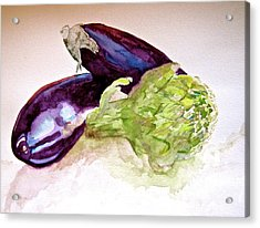 Acrylic Print featuring the painting Prickly And Voluptuous by Beverley Harper Tinsley