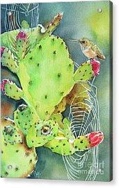 Prickly Pair Acrylic Print by Patricia Pushaw