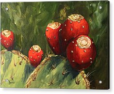 Prickly Pear IIi Acrylic Print by Torrie Smiley