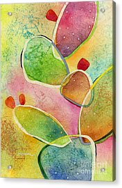 Acrylic Print featuring the painting Prickly Pizazz 1 by Hailey E Herrera