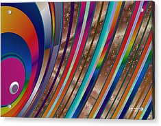 Acrylic Print featuring the digital art Pride Waves 2101 by Brian Gryphon