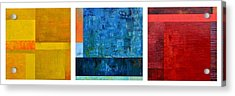 Acrylic Print featuring the painting Primary - Artprize 2017 by Michelle Calkins