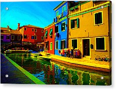 Acrylic Print featuring the pastel Primary Colors 2 by Donna Corless