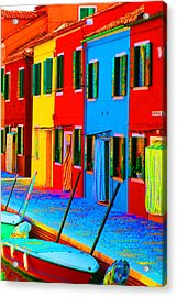 Acrylic Print featuring the photograph Primary Colors Of Burano by Donna Corless
