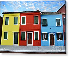 Primary Colors Too Burano Italy Acrylic Print