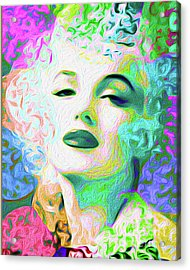 Primatic Marilyn Monroe Acrylic Print