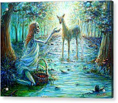 Acrylic Print featuring the painting Primavera Forest Of New Life by Heather Calderon