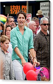 Acrylic Print featuring the photograph Prime Minister Justin Trudeau by Chris Dutton