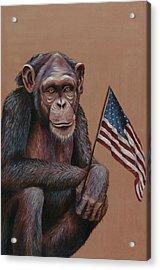 Primitive Patriotism Acrylic Print by Jim Figora