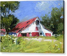 Primm-owen Barn In Brentwood Tennessee Acrylic Print