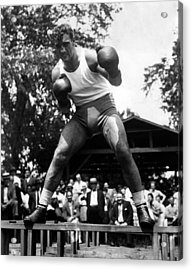 Primo Carnera At His Training Camp Acrylic Print by Everett