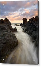 Primordial Tides Acrylic Print by Mike  Dawson