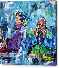 Prince And Stevie Acrylic Print