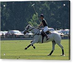 Prince Charles Playing Polo At Windsor Acrylic Print