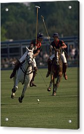 Prince Charles Playing Polo Acrylic Print