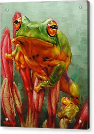 Prince Charming In Disguise Acrylic Print by Margaret Stockdale